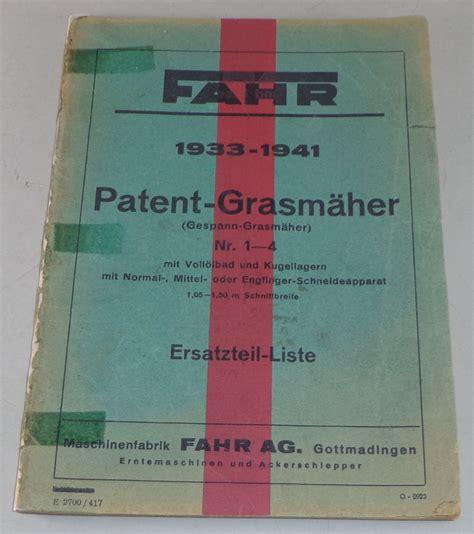 Husqvarna Motorrad Teilekatalog by Teilekatalog Fahr Patent Grasm 228 Nr 1 4 Modelle 1933