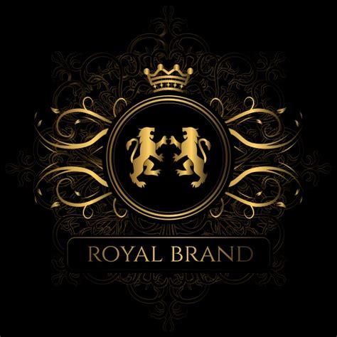 elegant logo design photoshop elegant royal brand background vector free download
