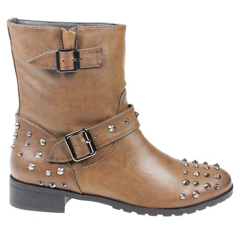 cowboy ankle boots womens womens low heel pull on studded cowboy ankle boots