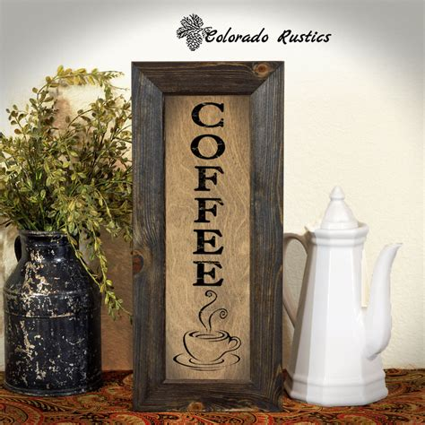 Coffee Sign Rustic Kitchen Sign Kitchen Wall Decor Coffee Coffee Signs Kitchen Decor