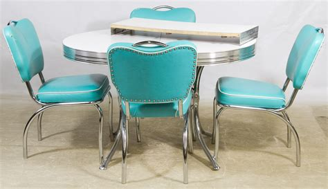 mid century modern chrome and formica kitchen table and