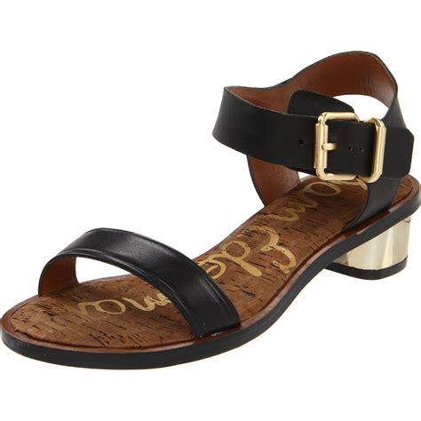 sam edelman black sandals sam edelman womens sandal in black lyst
