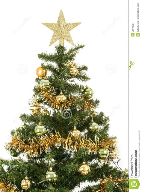 193 rbol de navidad adornado con las bolas amarillas y verdes