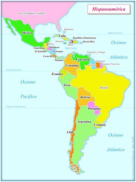 mapa de america paises me encanta escribir en espa 241 ol mapa de hispanoam 233 rica
