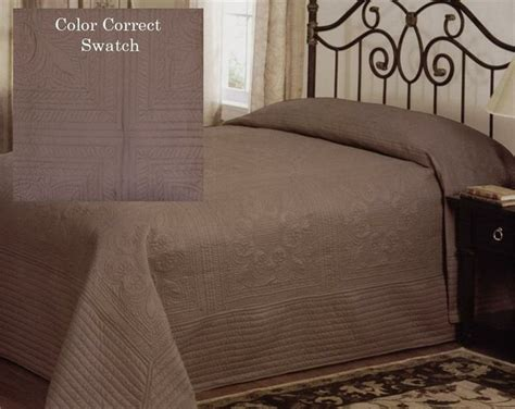 brown matelasse coverlet country french mocha brown oversized king bedspread