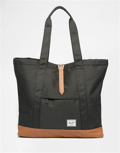 Original Herschel Market Tote Black herschel supply co herschel supply co market xl tote bag at asos