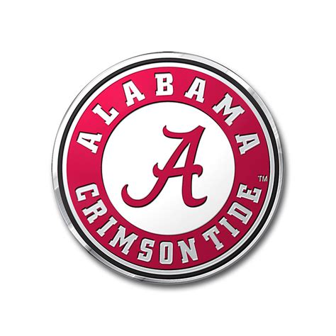 crimson tide colors alabama crimson tide color emblem car or truck decal