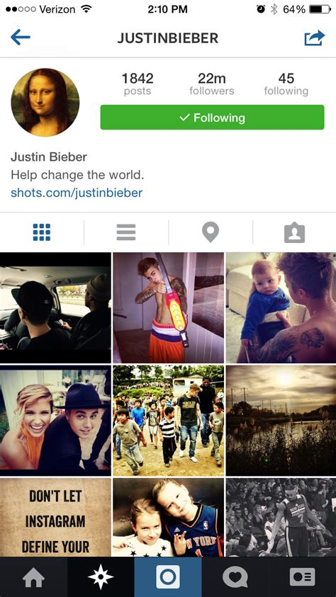 bio for instagram about justin bieber can you match the celeb to their instagram bio 15 m