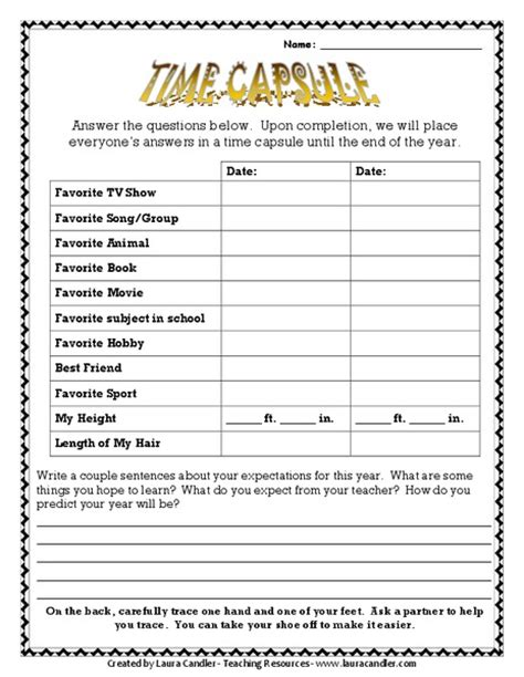 printable time capsule sheets free worksheets library download and print worksheets