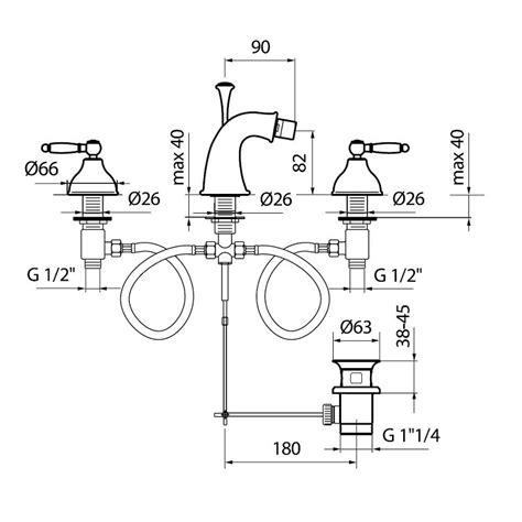 bidet dimensions do710202 bidet mixer dimensions bacera