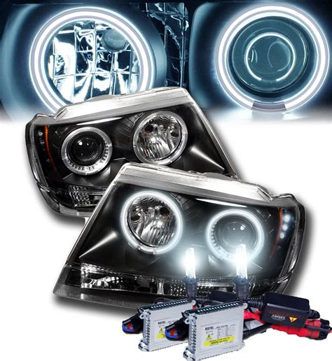 Jeep Hid Headlights Hid Xenon 99 04 Jeep Grand Eye Halo