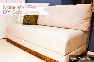 diy sofa make your own diy with help from green bow