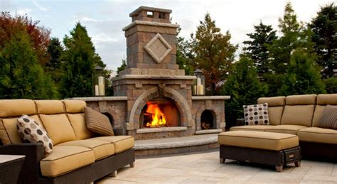 Outdoor Fireplace Screens Large by Add Warmth And To Your Landscaping With An Outdoor