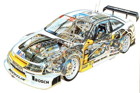 opel calibra race car opel calibra dtm race car cutaway poster print 24x36