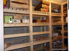 kitchen storage room ideas walk in cold room and canning room wooden vegetable bins
