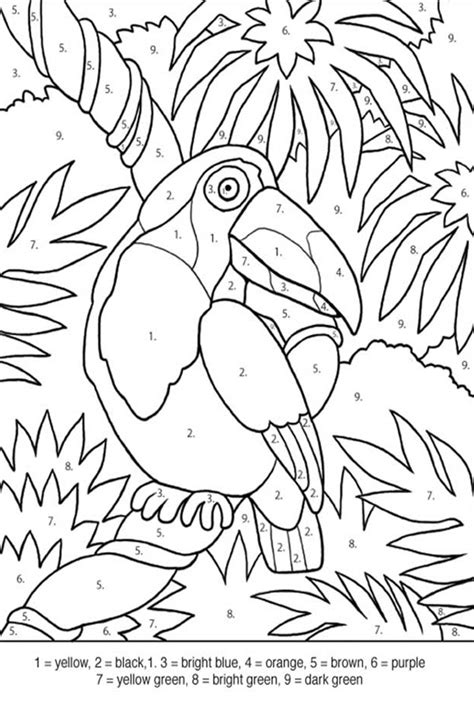 pin tropical bird coloring pages busy bee printables