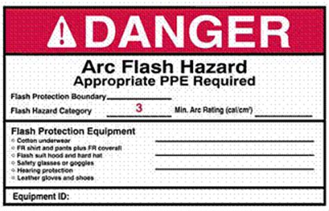 Comply With Regulations Increase Safety Save Costs With Arc Flash Labeling Arc Flash Label Template