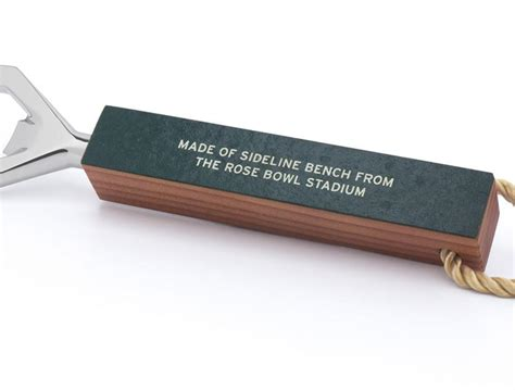 sideline bench rose bowl stadium sideline bench bottle opener tokens