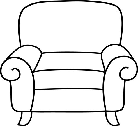 Armchair Coloring Page  Free Clip Art sketch template