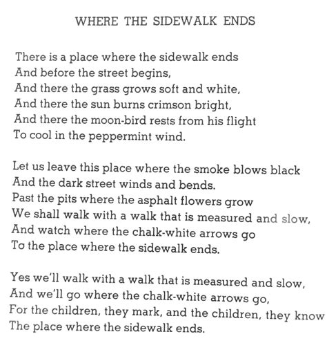 where the sidewalk ends poems and drawings shel mix tape poetry 102 where the sidewalk ends