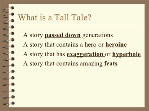 Tall Tale Powerpoint What Is A Tale Powerpoint