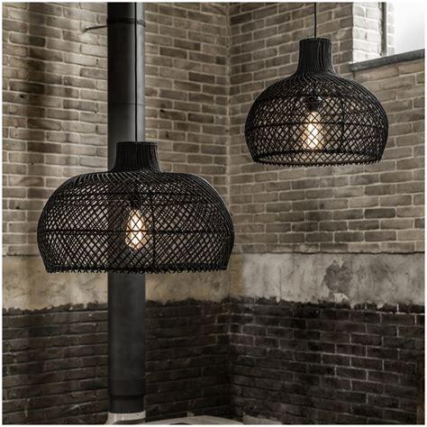 black rattan pendant light