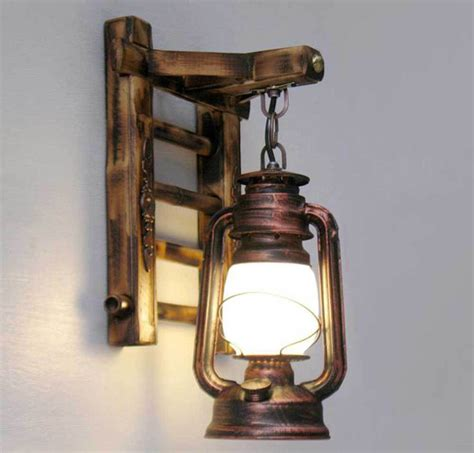 Rustic Lantern Wall Sconce Styl Bamboo Ladder Wall Ls Vintage Barn Lantern Rustic Wall Sconces Lighting Kerosene