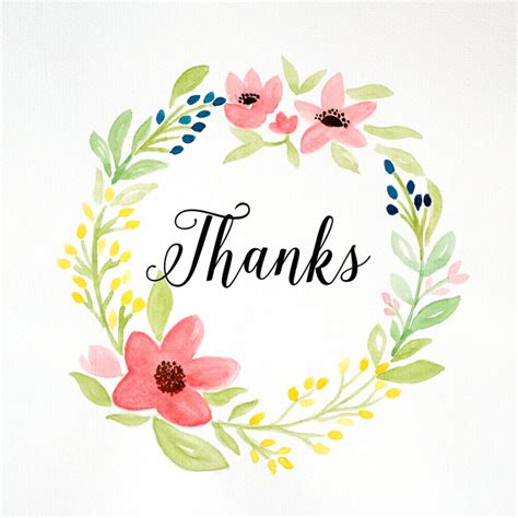 imagenes flores gracias gracias palabra y dibujo a mano guirnalda de flores de