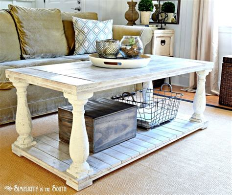 diy balustrade coffee table decor hacks