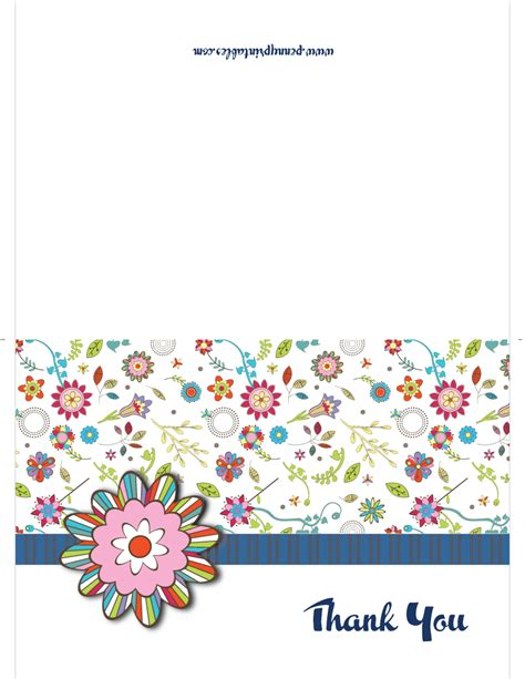 free photo card templates thank you retro flowery thank you cards printable free best sle