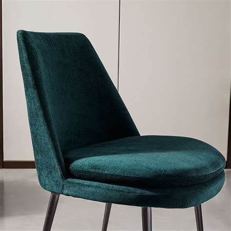 Low C Chair by Finley Low Back Velvet Dining Chair West Elm