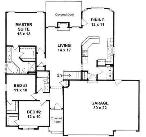 Lake House Plans For Narrow Lots by Plan 1424 3 Bedroom Narrow Lot Ranch W 3 Car Garage