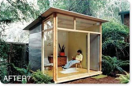 shed plans for the md100 modern shed/guest house from