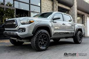 Toyota Tacoma Tires And Rims Toyota Tacoma With 18in Black Rhino Glamis Wheels