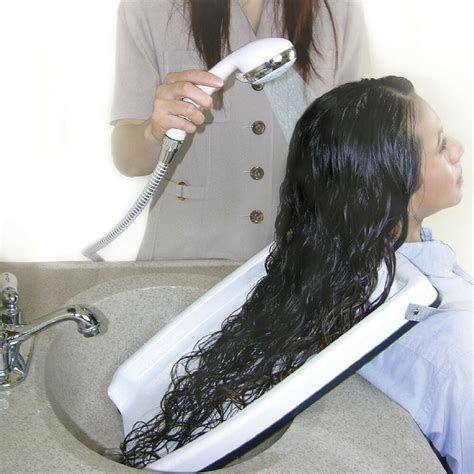How To Wash Your Hair In The Sink by Hair Washing Rinse Tray Easy Shoo Portable Home Tub