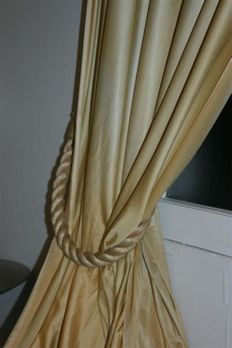 curtain ropes rope tie backs house ideas pinterest rope tying