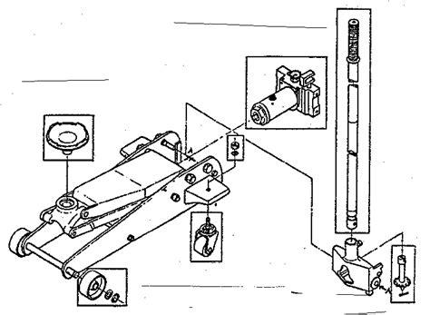 rotary floor jacks craftsman 2 ton floor parts model 21412400 sears