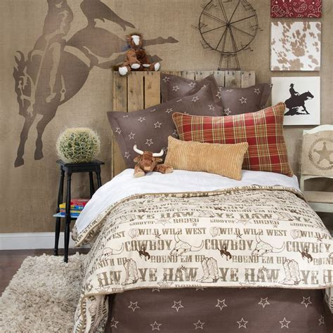 cowboys bedroom details about boy children kid cowboy horse western twin