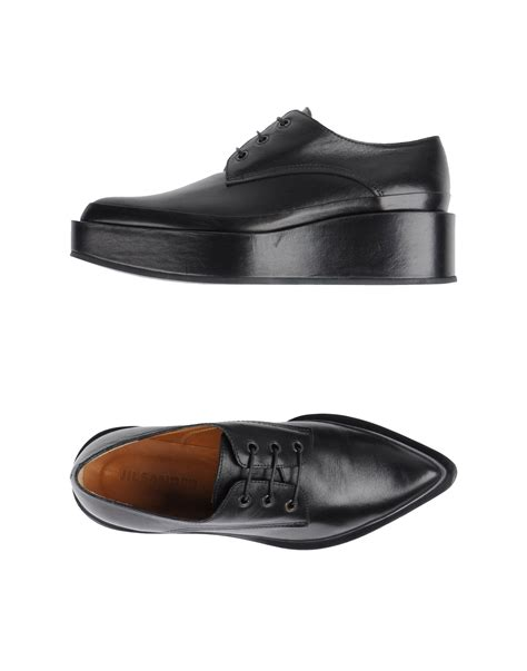 Jil Sander Shoe 2 by Jil Sander Lace Up Shoes In Black Lyst