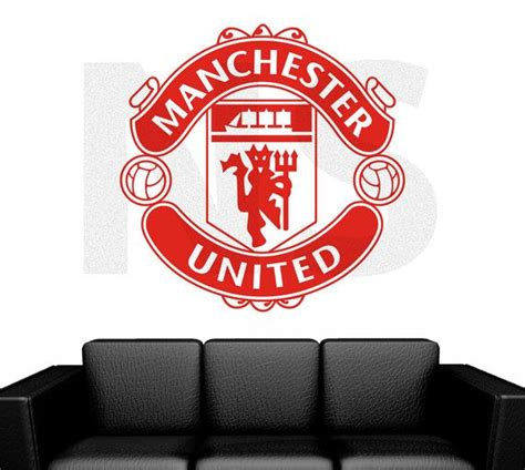 manchester united wall murals manchester united football club badge wall sticker mural