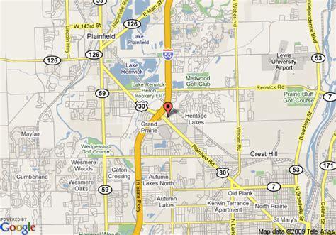 map of joliet il map of inn express joliet plainfield i 55