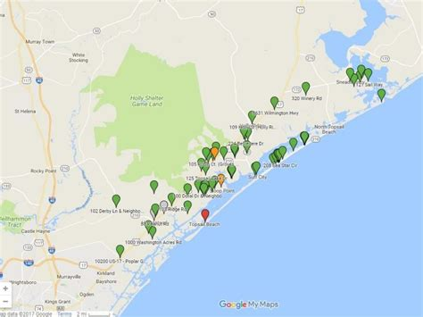 google map shows christmas lights in pender county wway tv