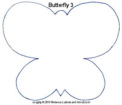 best photos of butterfly template printable large