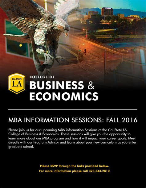 Cal State La Mba Deadlines by Mba Information Session California State Los