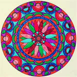 colorful mandala coloring