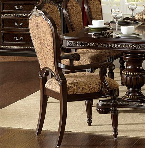 russian hill upholstery homelegance russian hill arm chair cherry 1808a