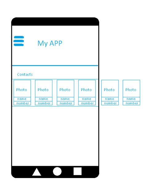 android grid layout horizontal scroll android horizontal recycler view with horizontal scroll