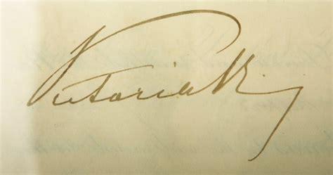 queen victoria signature queen victoria s signature on parchment document