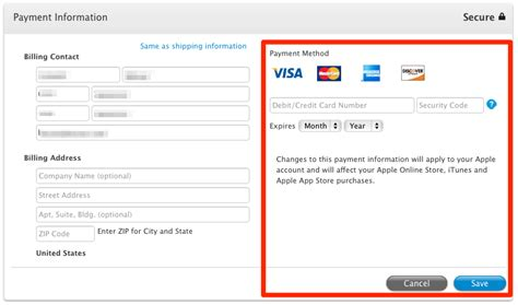 Sle Credit Card Number For Itunes Itunes Store How To Change Credit Card Data For Apple Id Ask Different
