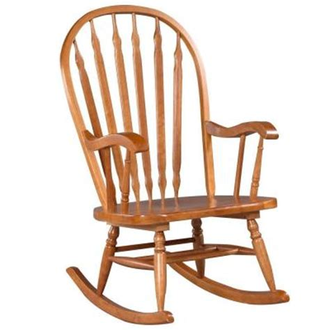 Oak Rocking Chairs by Carolina Cottage Hudson Rocking Chair In Oak 1180s 4 The